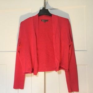 Raspberry Long Sleeved Cardigan Sweater